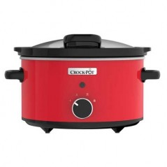 Crockpot Red Stoneware Slow Cooker with Hinged Lid 3.5L CSC037