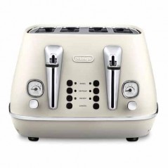 Delonghi Distinta 4 Slice Toaster in White CTI4003.W