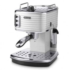 Delonghi Scultura Pump Espresso Coffee Machine in White ECZ351.W