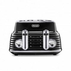 Delonghi Scultura Toaster 4 Slice in Black CTZ4003.BK