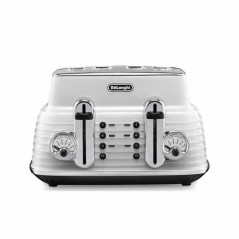 Delonghi Scultura Toaster 4 Slice in White CTZ4003.W