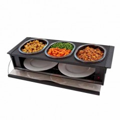 Hostess Buffet Side Server in Black Finish H0392BL