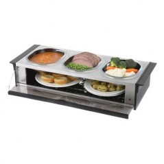 Hostess Buffet Side Server in Silver Finish H0392SV