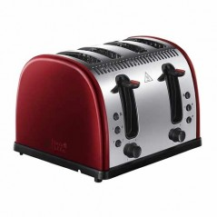 Russell Hobbs Legacy 4 Slice Toaster in Red 21301