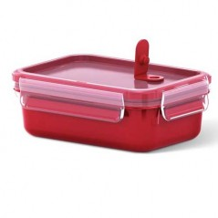 Tefal Masterseal Micro Rectangular Food Storage 0.55L in Red K3102012