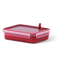 Tefal Masterseal Micro Rectangular Food Storage 1.2L in Red K3102512